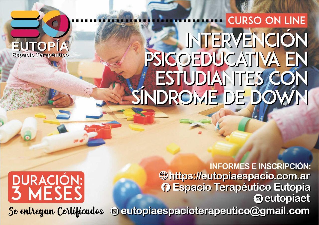 Curso Intervención Psicoeducativa en estudiantes con Síndrome de Down